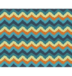 Sea Beach Painted Zigzag Pattern vector image vector image