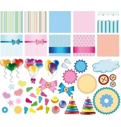 Set of items for card vector image vector image