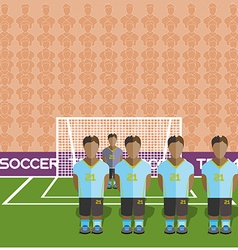Uruguay Soccer Club Penalty on a Stadium vector image vector image