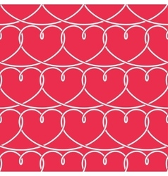 Valentines Day Pattern Hearts Background vector image