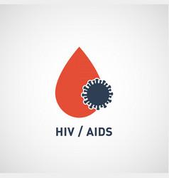 hiv aids virus logo icon design vector image vector image