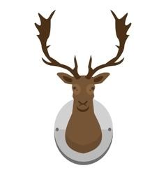 mounted deer head vector image vector image