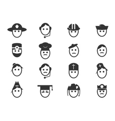 Occupation icons set vector image