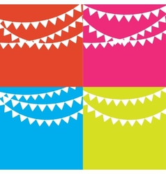 Party flag background vector