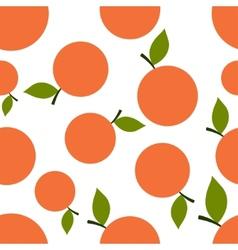 Pattern Silhouette Mandarines vector image