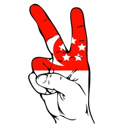 Peace Sign of the Singapore flag vector image