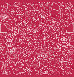 seamless pattern with princess atributes vector image vector image