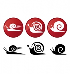 snail vector silhouette icon set vector image vector image