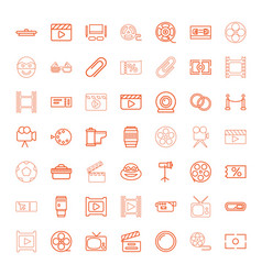 49 movie icons vector image