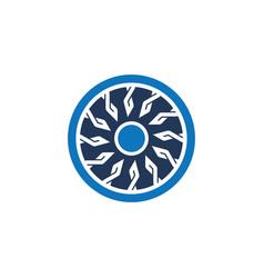 Abstact circle ornament logo vector