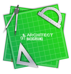 architect wood table project with professional vector image