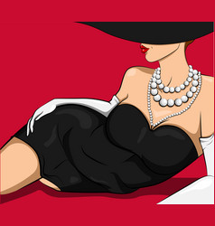attractive comic lying sexy woman vector image