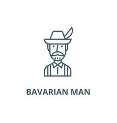 bavarian man line icon bavarian man vector image