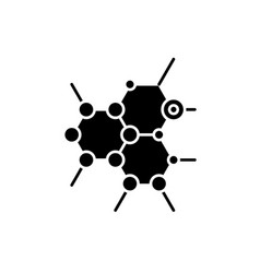 biochemistry black icon sign on isolated vector image