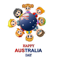 children around the world concept australia day vector image