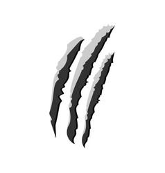 Claw scratchs black silhouette werewolf vector