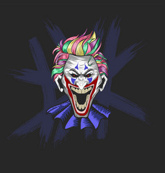 Clown for halloween poster banner and t shirt vector