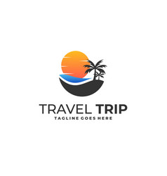 coconut travel template vector image