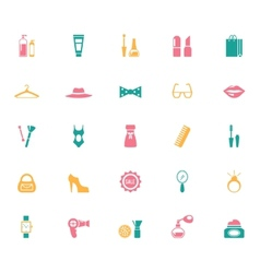 collection fashion and shopping icons vector image