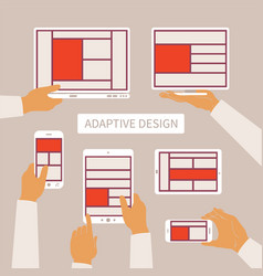 Concept of modern adaptive responsive web and vector