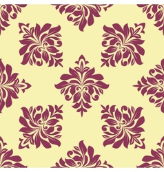 Crimson floral seamless pattern vector