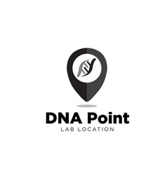 Dna point logo designs for medical locations vector