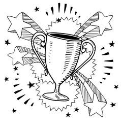 doodle pop trophy vector image