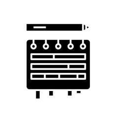 Editing plans black icon concept vector