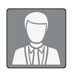 Emblem man customer icon vector