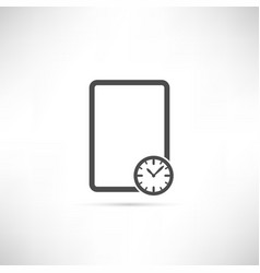 Empty Schedule Icon vector image