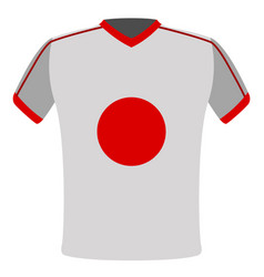 flag t-shirt of japan vector image