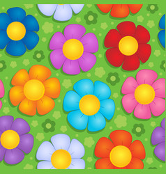 Flowery seamless background 9 vector