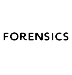 Forensics stamp typographic stamp vector
