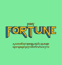 fortune 3d font alphabet vector image