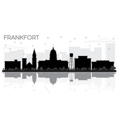 Frankfort kentucky usa city skyline black and vector