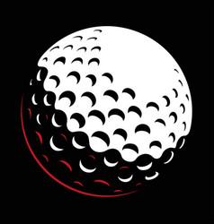galf ball on dark background vector image