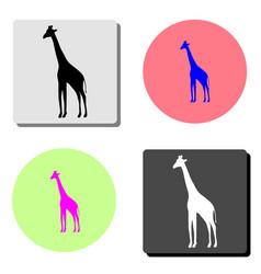 giraffe flat icon vector image
