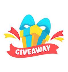 Giveaway banner present for post or like for vector