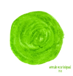 green watercolor circle vector image