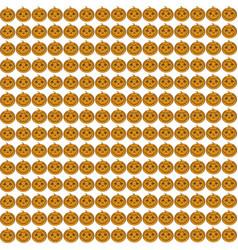 halloween pattern pumpkin seamless background vector image