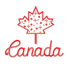 happy canada day hand drawn typography design vector image