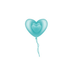 happy valentines day air heart balloon vector image
