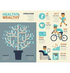 Healthy and wealthy vector