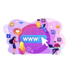 Internet addiction concept vector