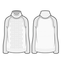 Knitted sweater with a pattern vector
