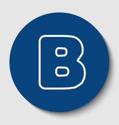 letter b sign design template element vector image