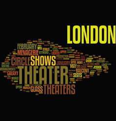 London theater text background word cloud concept vector