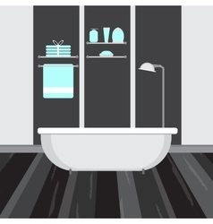Modern bathroom interior flat vector image