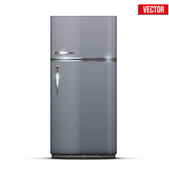 Modern fridge freezer refrigerator vector