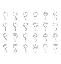 mono line keys for doors vector image